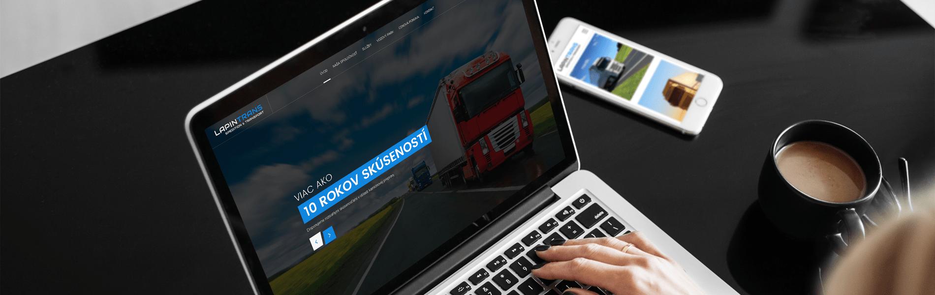 Lapintrans.sk - Tvorba one-page web stránky | Uniqino.sk