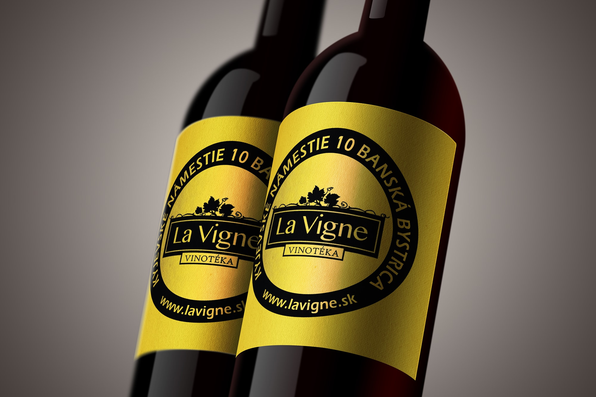 Náhľad etikety La Vigne na fľaši vína