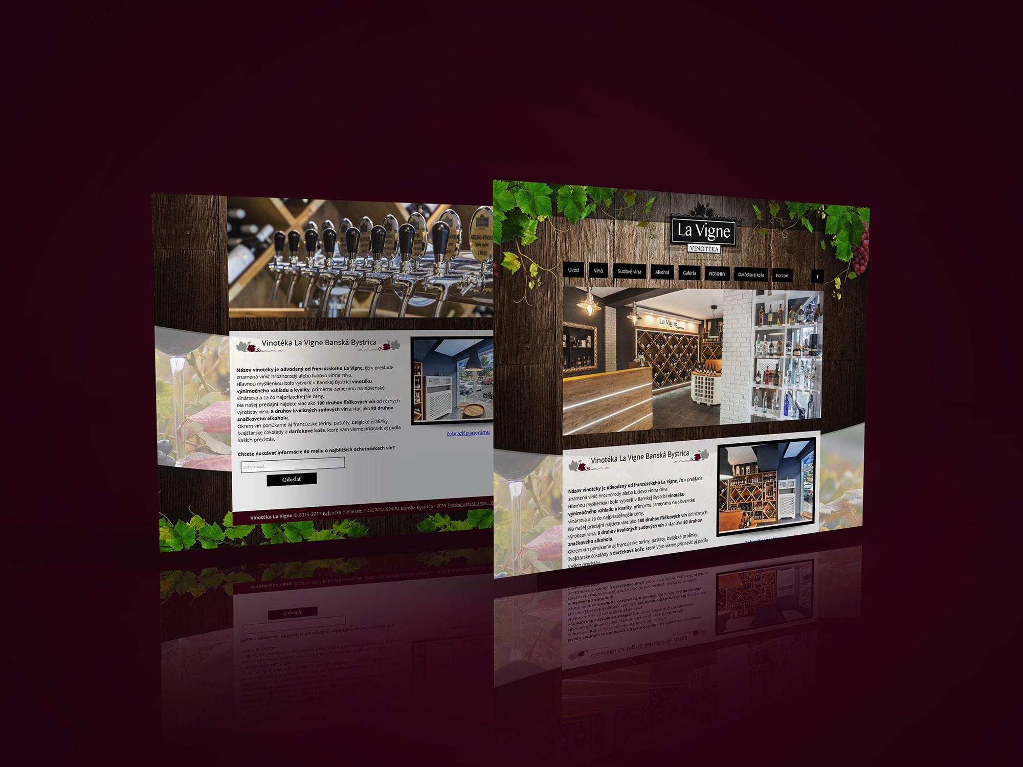 Grafické náhľady web stránky lavigne.sk