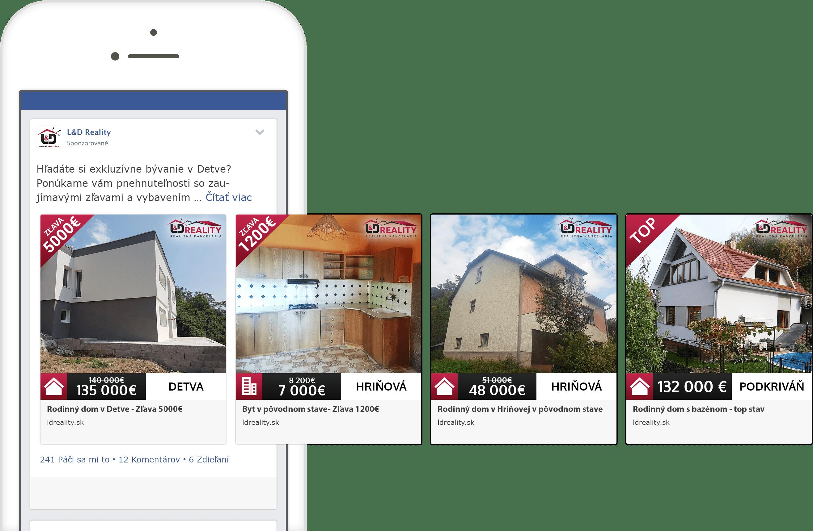 Facebook reklama spoločnosti LD Reality