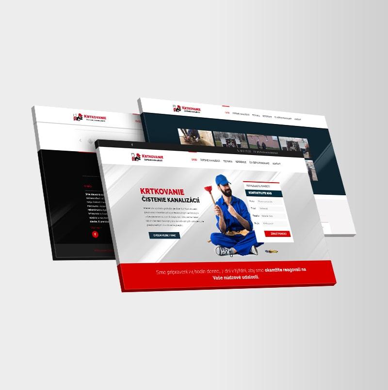 Tvorba web stránky krtkovanie-cistenie.sk | Marketingová agentúra Uniqino