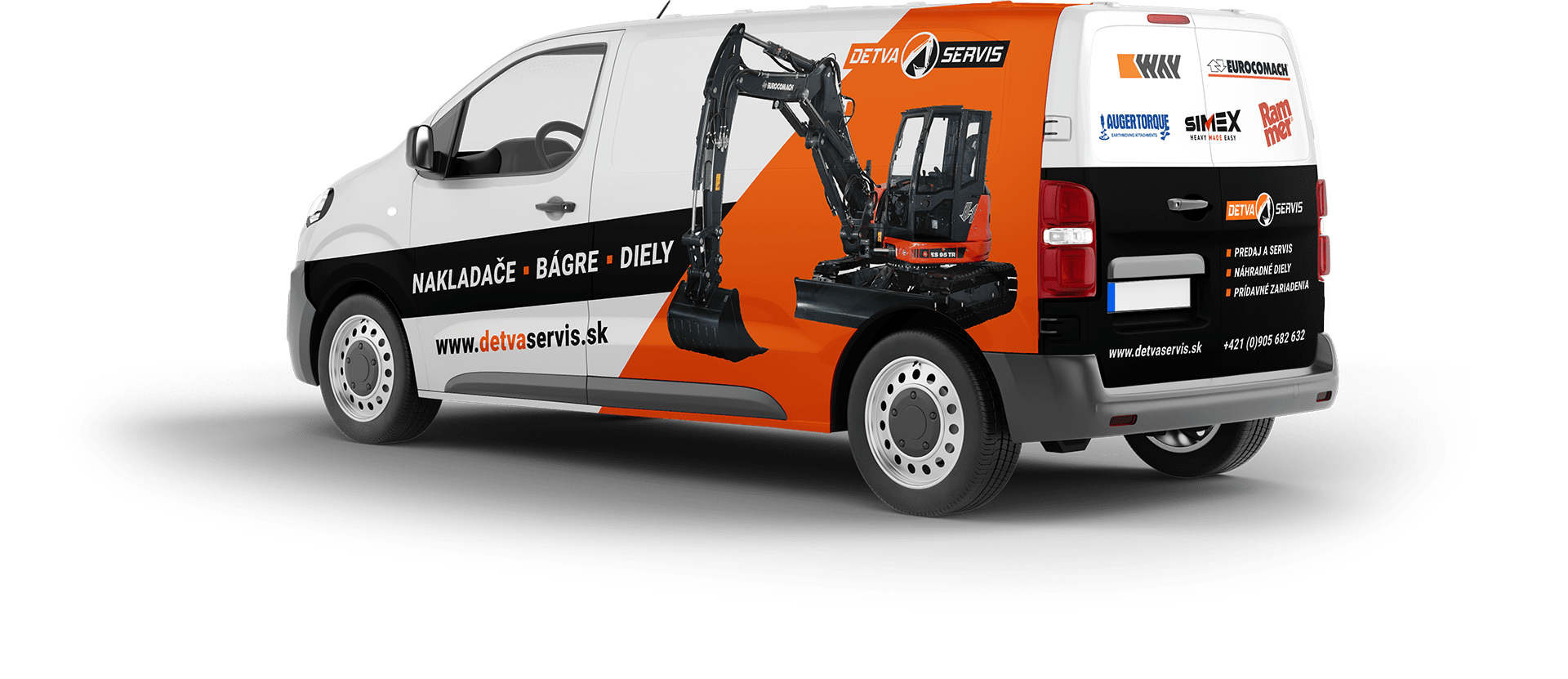 Návrh potlače vozidla pre DETVA Servis | Marketingová agentúra UNIQINO
