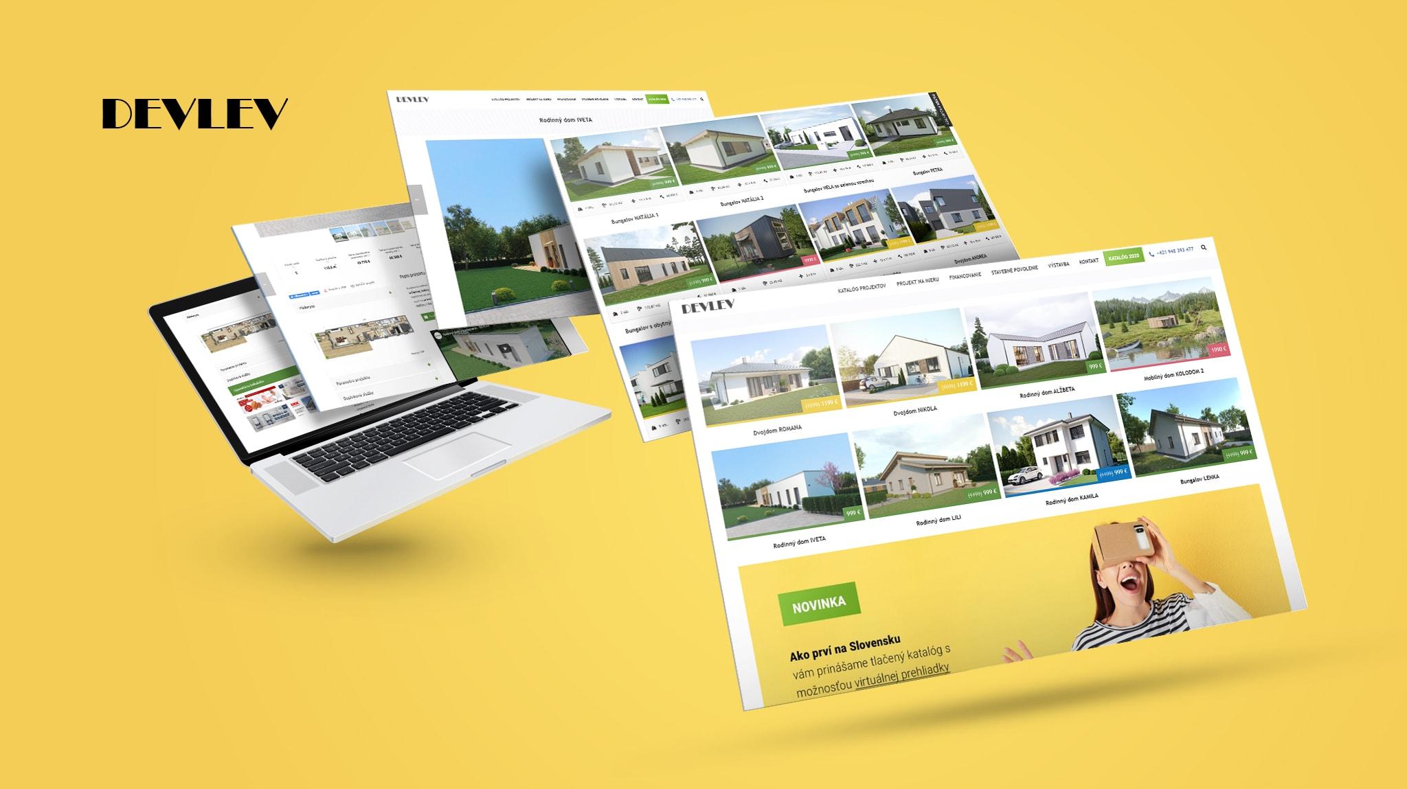 Tvorba web stránky katalogoveprojekty.sk | Marketingová agentúra UNIQINO