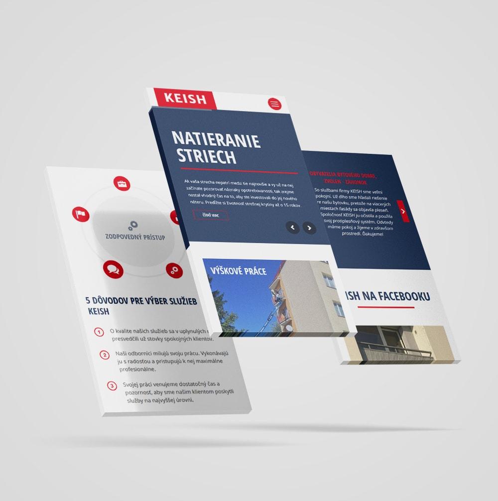 Tvorba web stránky pre KEISH | Marketingová agentúra UNIQINO