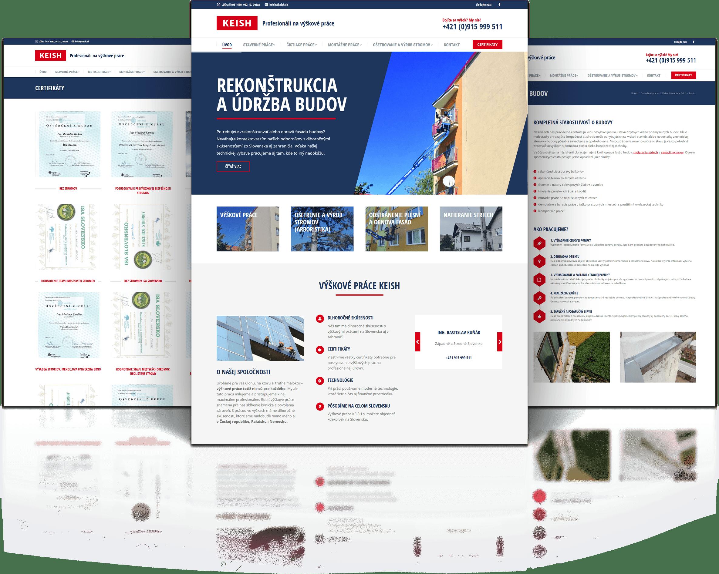 Tvorba web stránky keish.sk | Marketingová agentúra UNIQINO