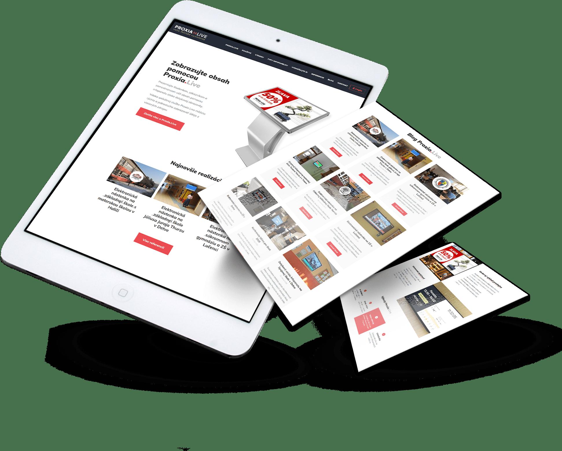 Tvorba web stránky proxia.live | Marketingová agentúra UNIQINO