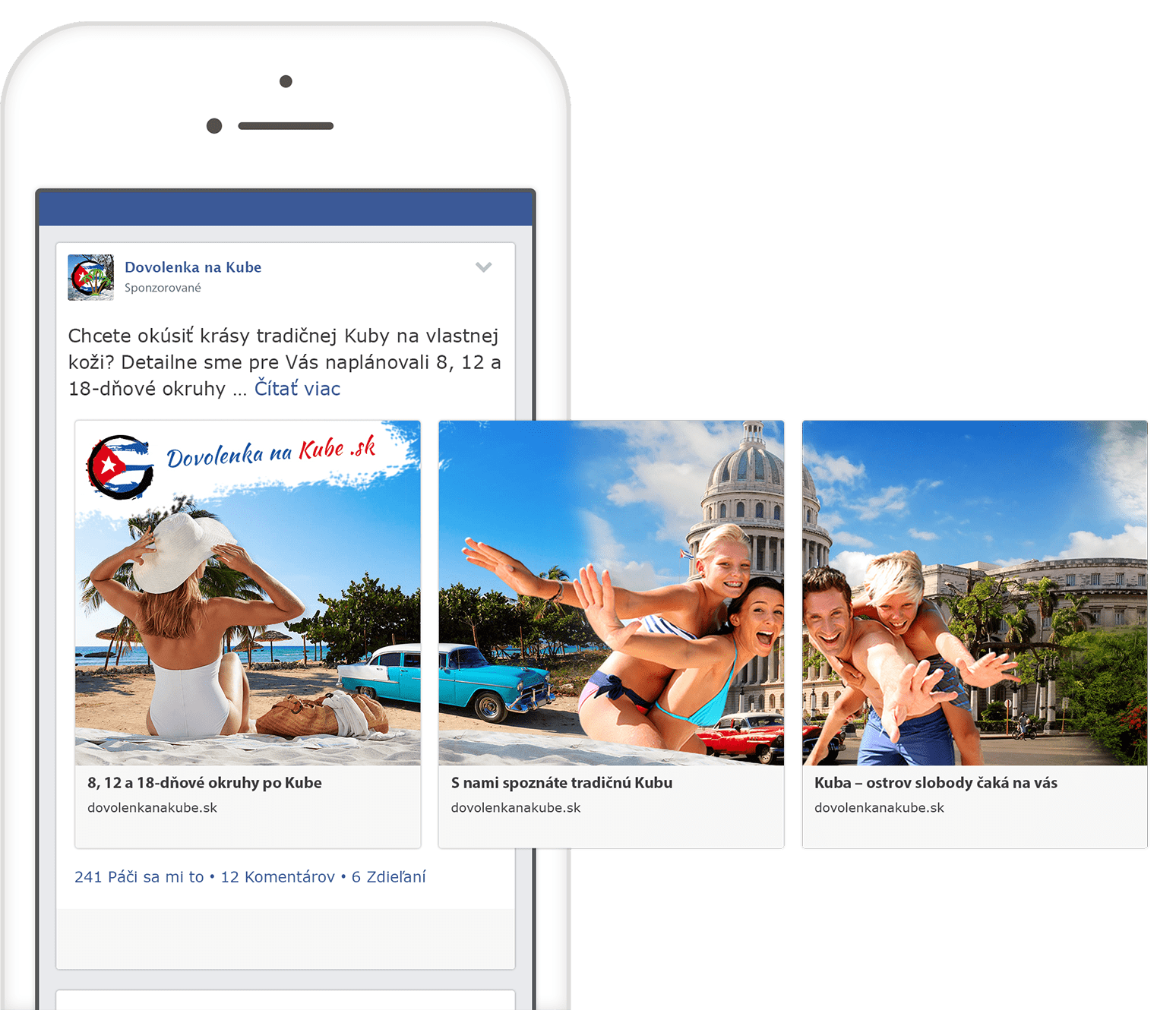 Facebook reklama na mobilnom telefóne