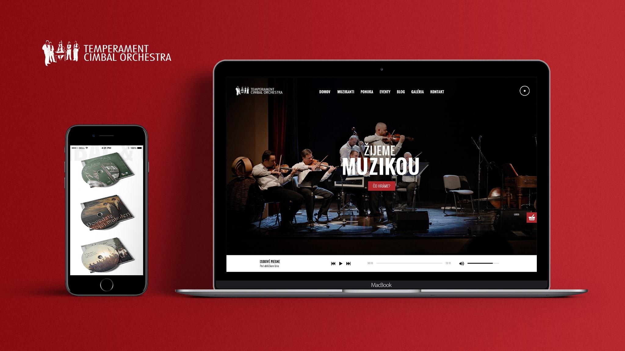 Tvorba web stránky pre Temperament Cimbal Orchestra   Marketingová agentúra UNIQINO