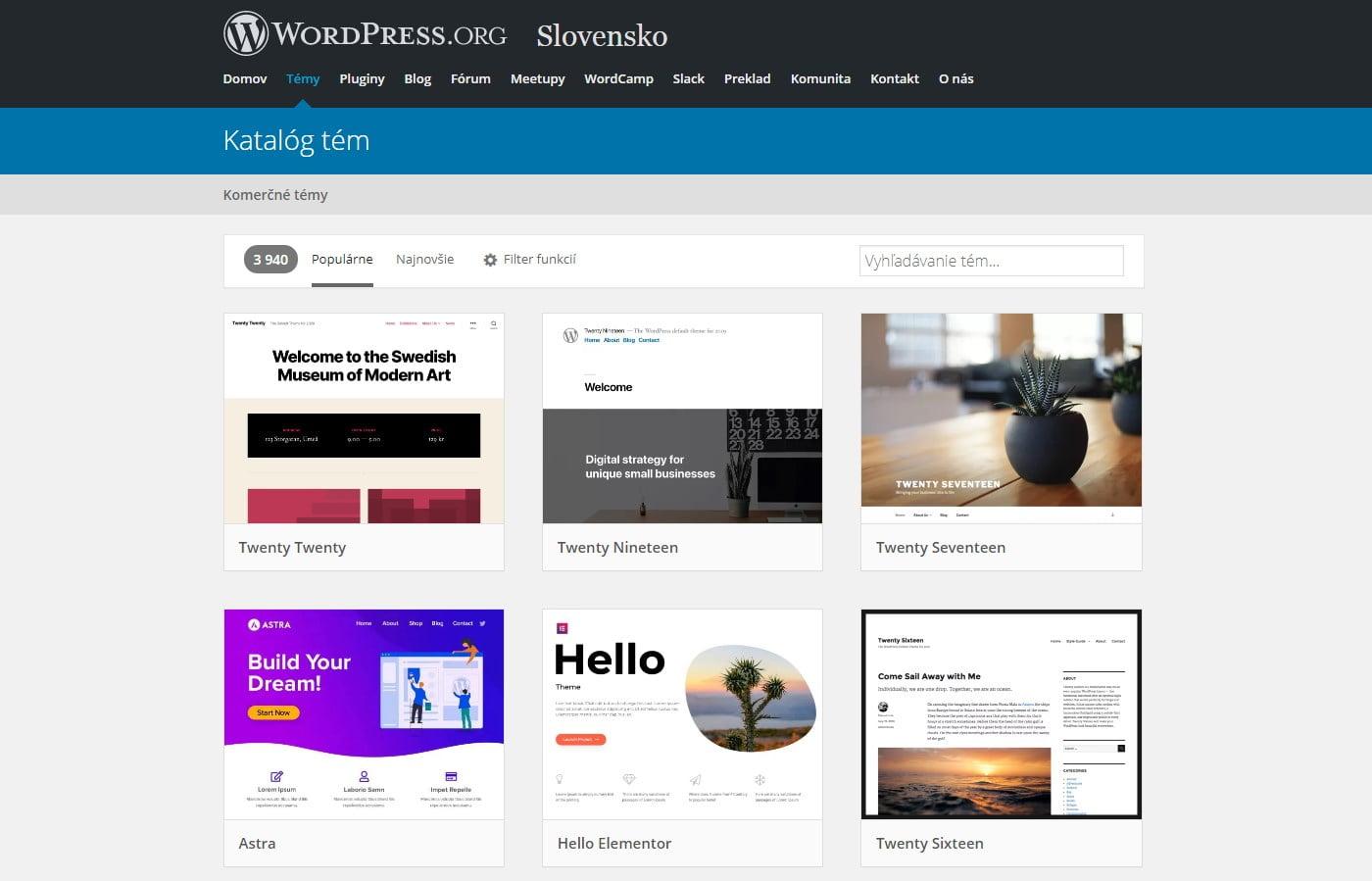 Archív tém WordPress.org | Blog - Marketingová agentúra UNIQINO