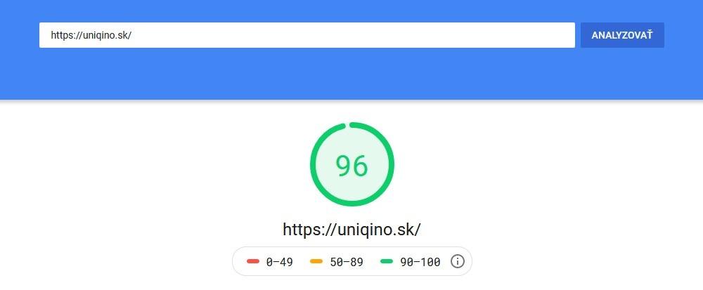 Bezplatný SEO nástroj Google PageSpeed Insights | UNIQINO blog