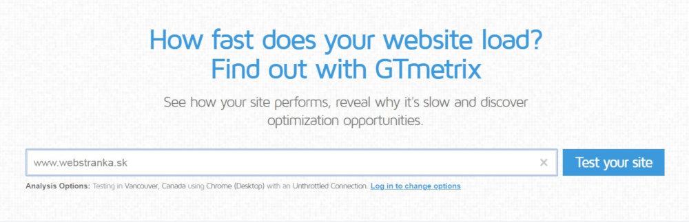 Bezplatný SEO nástroj GTMetrix | UNIQINO blog
