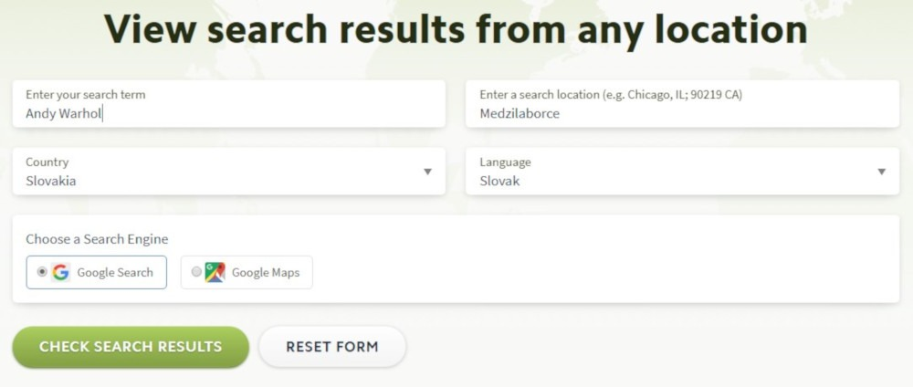 Bezplatný SEO nástroj Local Search Results Checker | UNIQINO blog