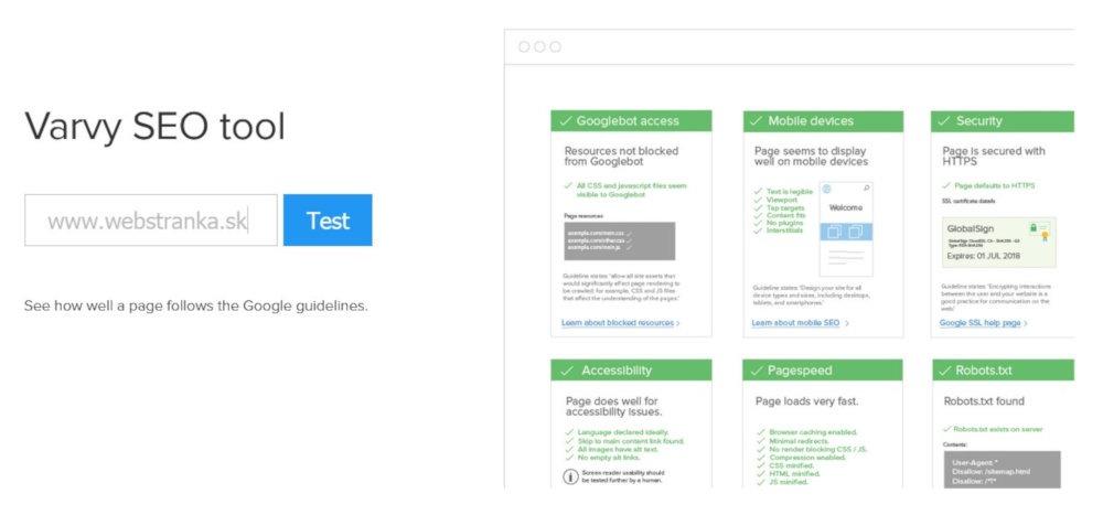 Bezplatný SEO nástroj Vavry SEO tool | UNIQINO blog