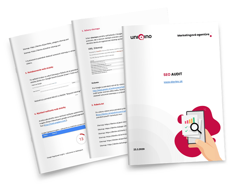 SEO audit | Marketingová agentúra UNIQINO