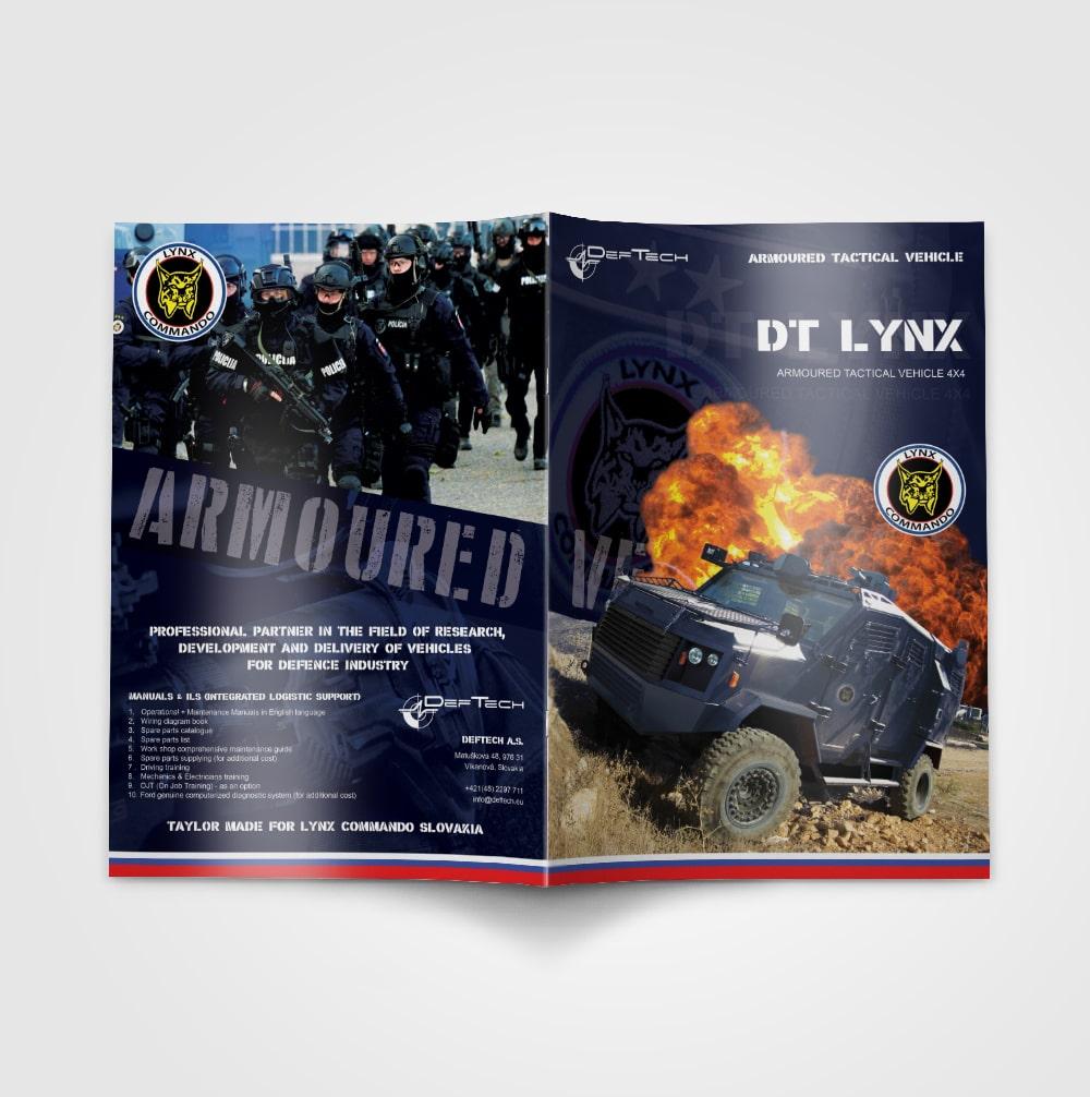 Brožúra pre Deftech | Marketingová agentúra UNIQINO