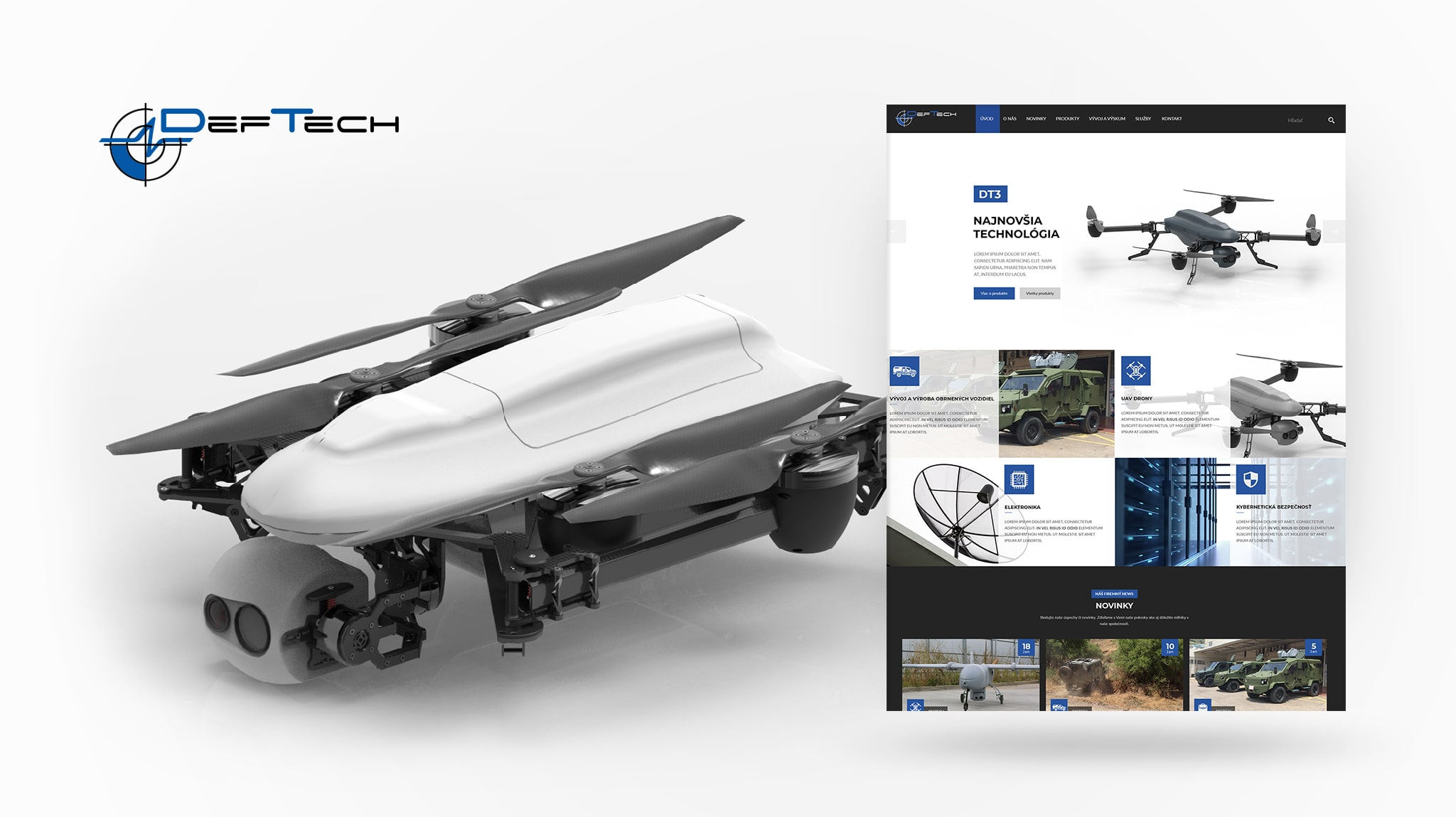 Tvorba web stránky deftech.eu | Marketingová agentúra UNIQINO